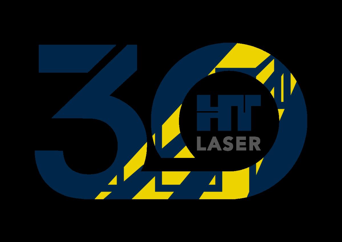 HT Laserin 30-vuotisjuhlalogo