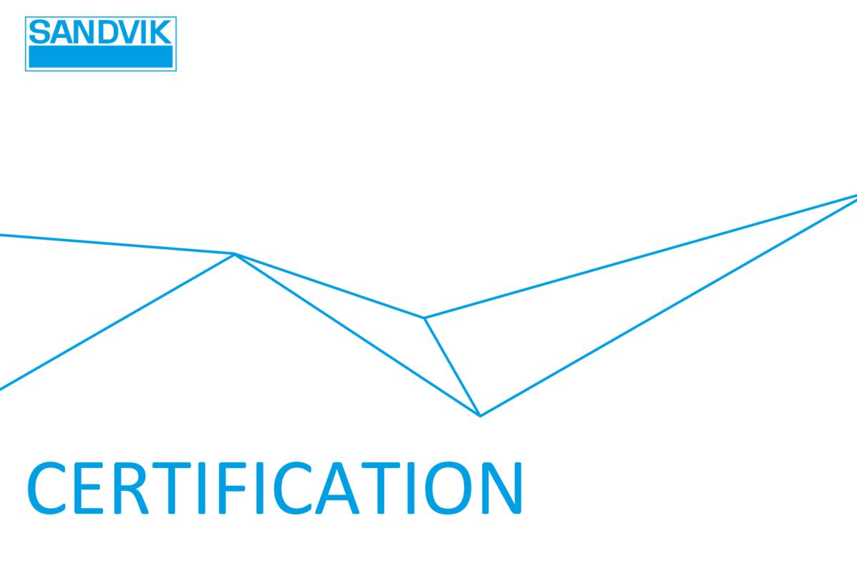 HT Laserille Sandvikin Certification